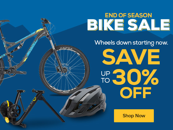 Wheels down starting now. Save up to 30% for the Preseason Bike Sale