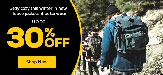 Stay cozy this winter in new fleece jackets & outerwear up to 30% off.