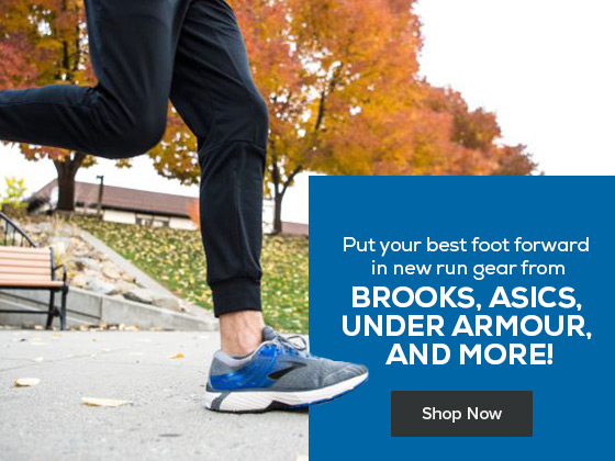Put your best foot forward in new run gear. Shop from a variety of brands like Under Armour, Asics, Brooks and more!