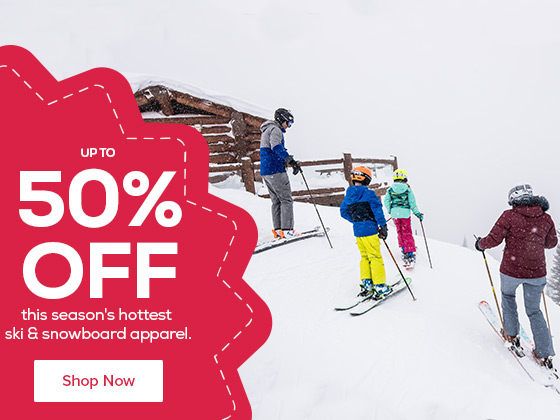 Save up to 50% on this season's hottest ski & snowboard apparel from brands like Salomon, Karbon, Boulder Gear & More!
