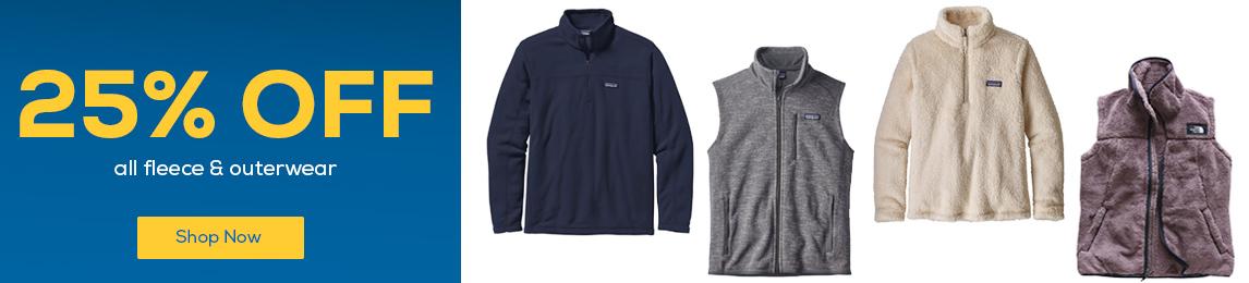25% Off All Fleece & Outerwear.