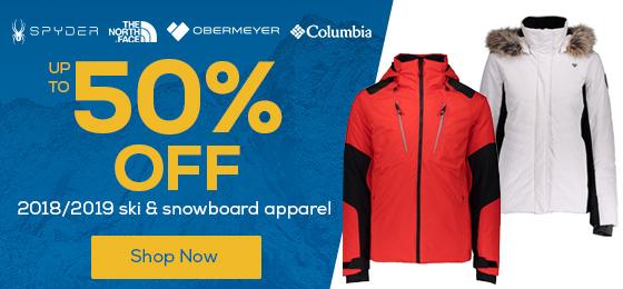 25% Off 2018/2019 Ski & Snowboard Apparel.