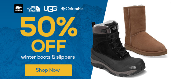 Up to 50% Off Winter Boots & Slippers