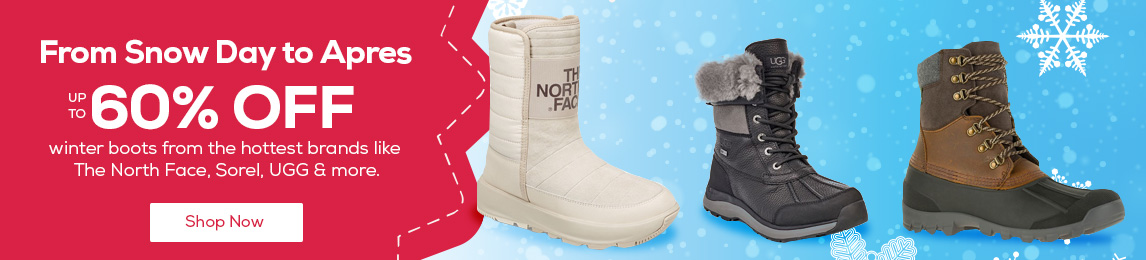 From Snow Days to Apres - up to 60% off the hottest brands like The North Face, Sorel, UGG & more. Shop Now