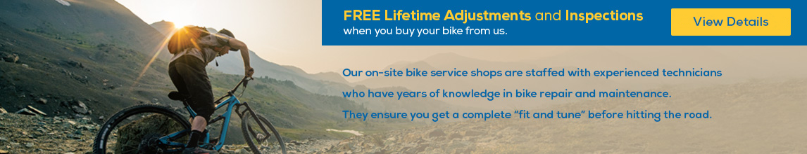Free Lifetime Adjustments and Inspections. View Details