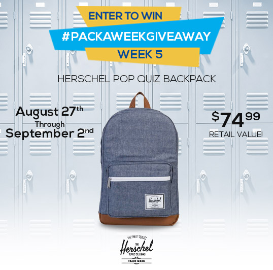 Enter to win a Herschel Supply Pop Quiz Backpack