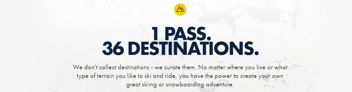 1 pass. 36 destinations.