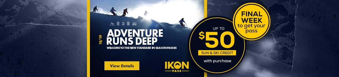 Adventure runs deep. Get your Ikon Pass today.