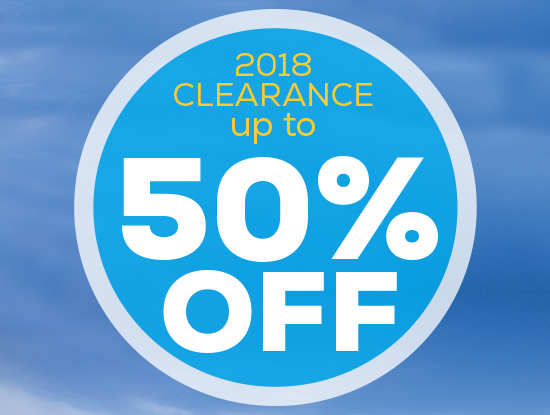 2018 Clearance up to 50% off