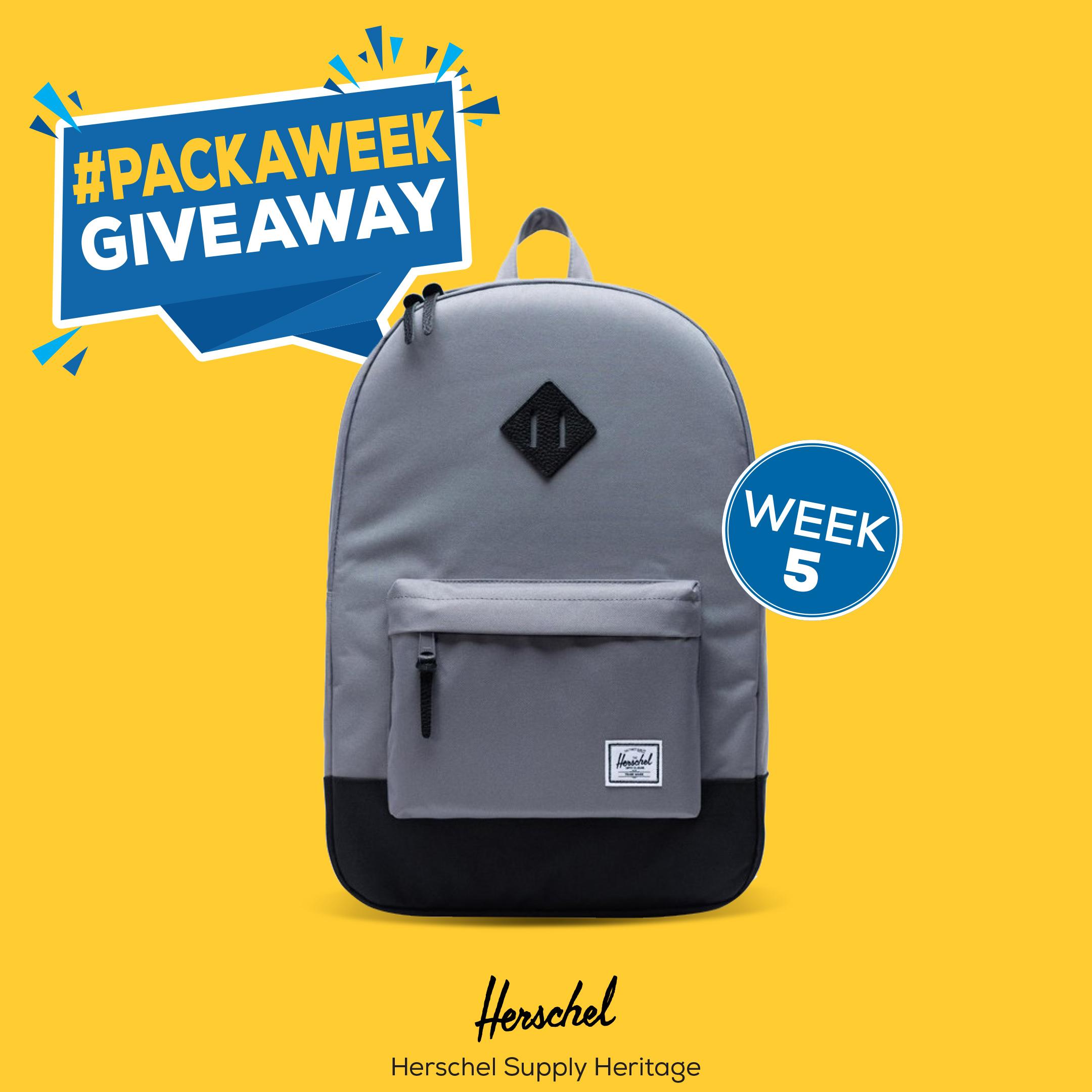 Enter to win Herschel Supply Heritage Backpack