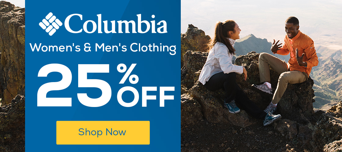 c39d92fa44 Columbia Women s   Men s Clothing 25% Off
