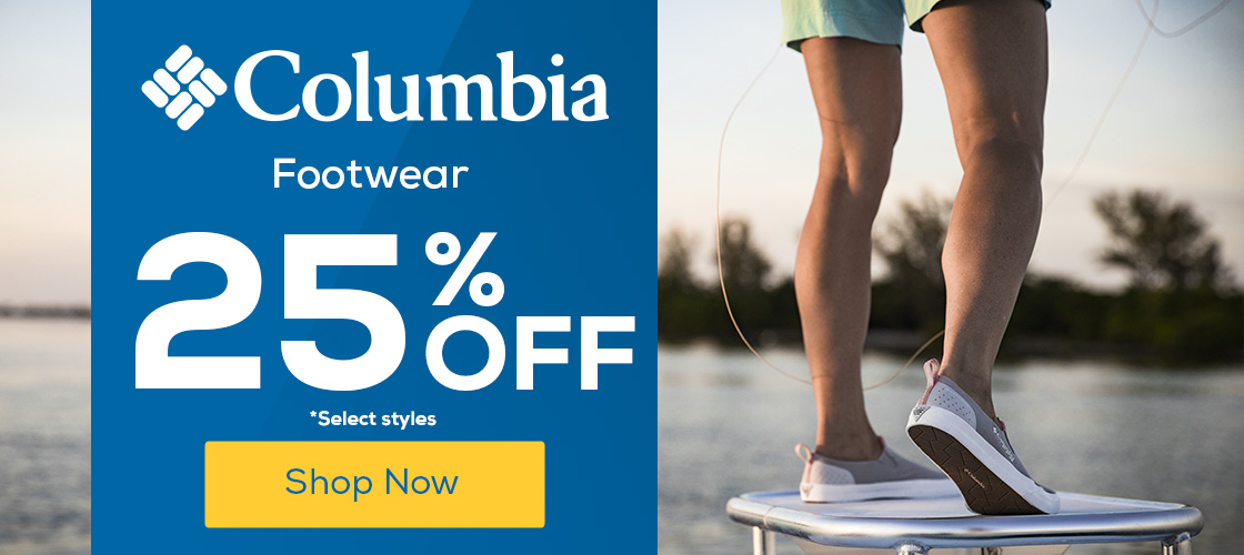 Columbia Footwear 25% Off
