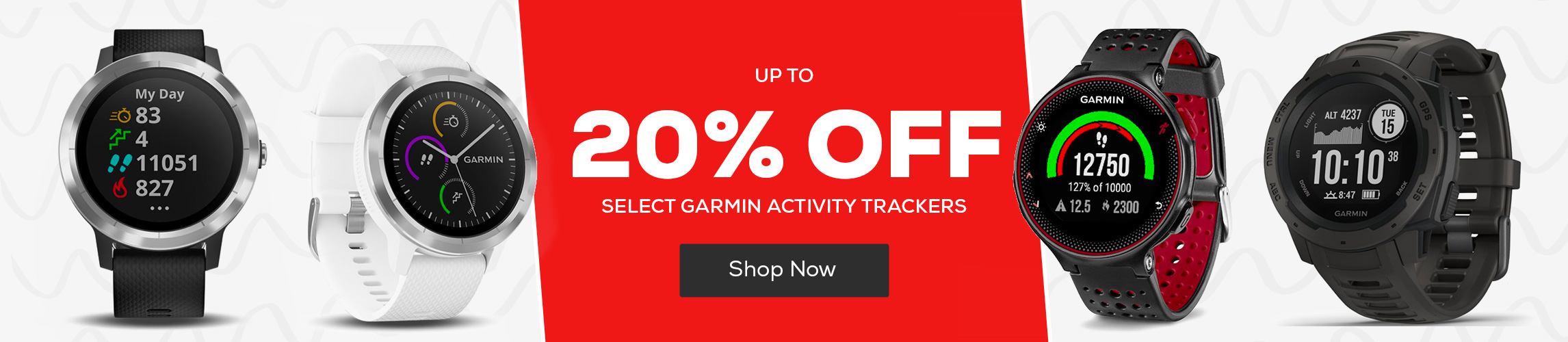 Save up to 20% Off Select Garmin Activity Trackers
