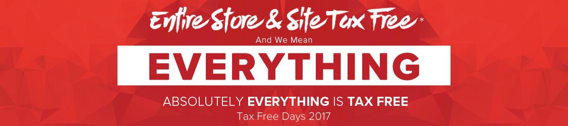 Entire Store Tax Free - Tax Free Days 2017