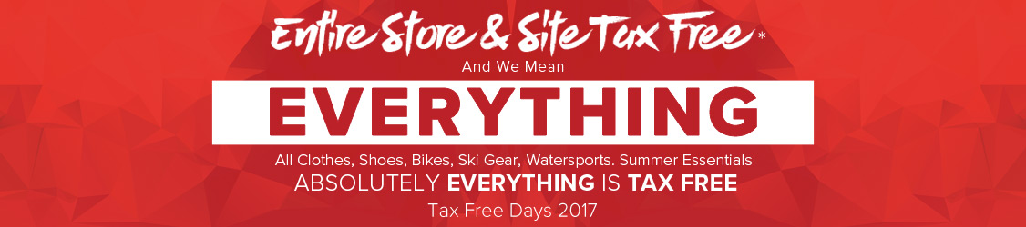 Entire Store Tax Free - Tax Free Days 2017