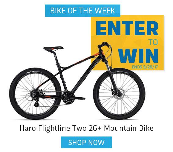 Enter to win a Haro Flightline Mountain Bike
