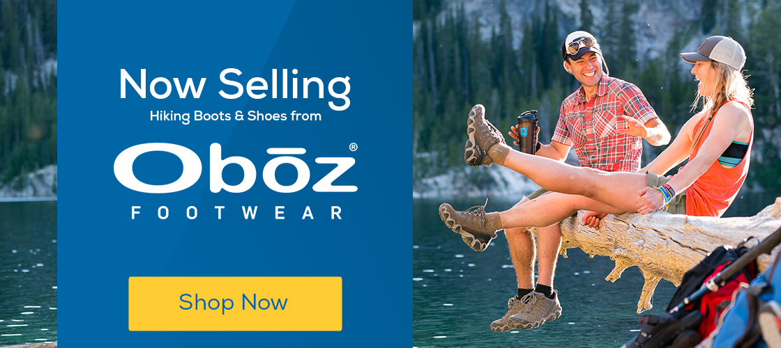 Now Selling! Oboz Hiking Boots & Shoes.