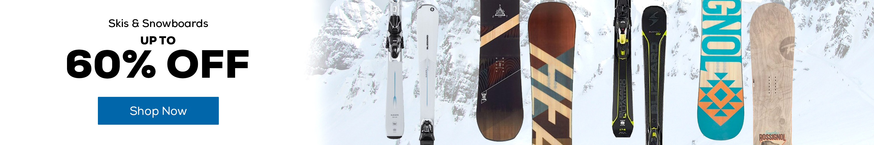 Up to 60% off Skis & Snowboards