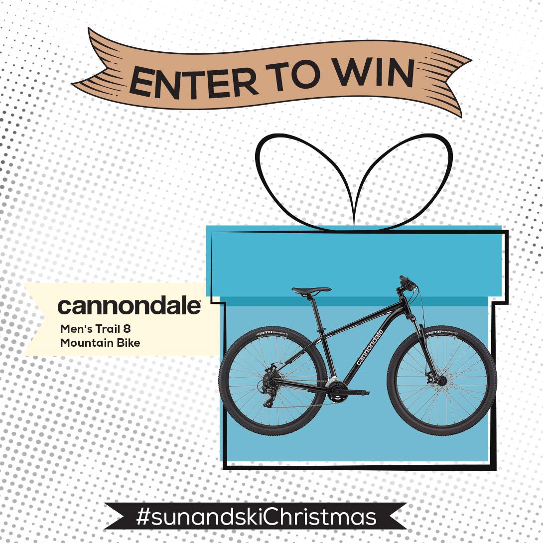 Enter to win Cannondale Men's Trail 8 27.5/29 Mountain Bike '21