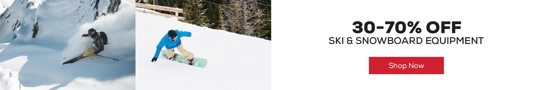 Ski & Snowboard Equipment 20-70% off