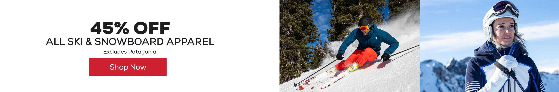 All Ski & Snowboard Apparel 45% Off