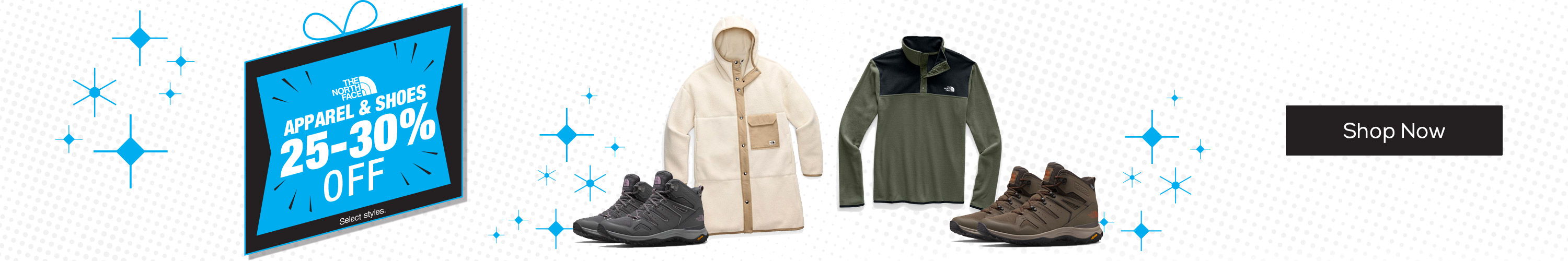 The North Face Apparel & Shoes 25-30% Off