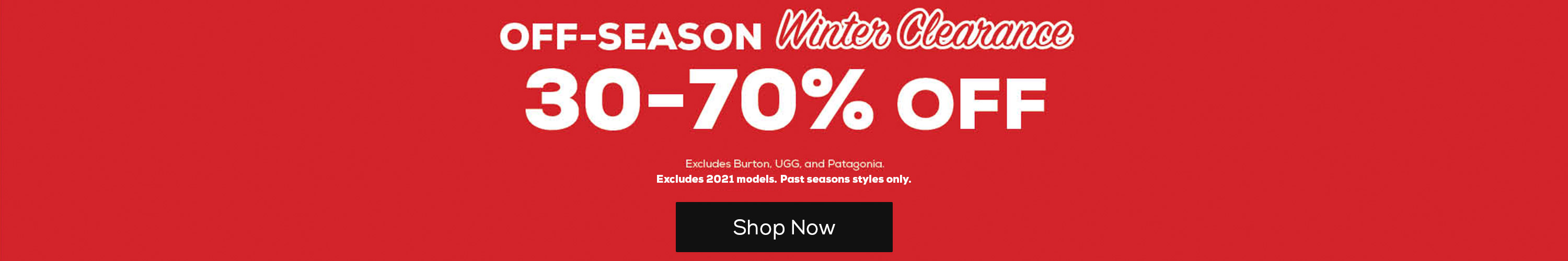 Off-Season Sale
