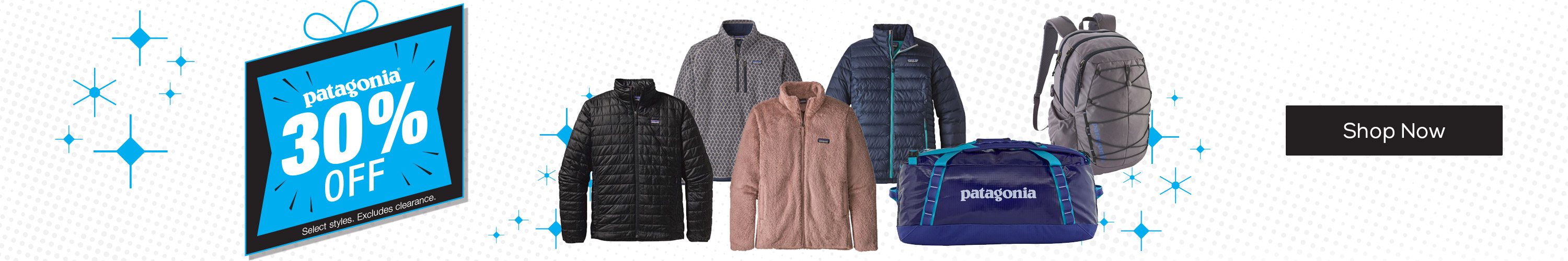 30% Off Select Patagonia *Select styles. Excludes clearance