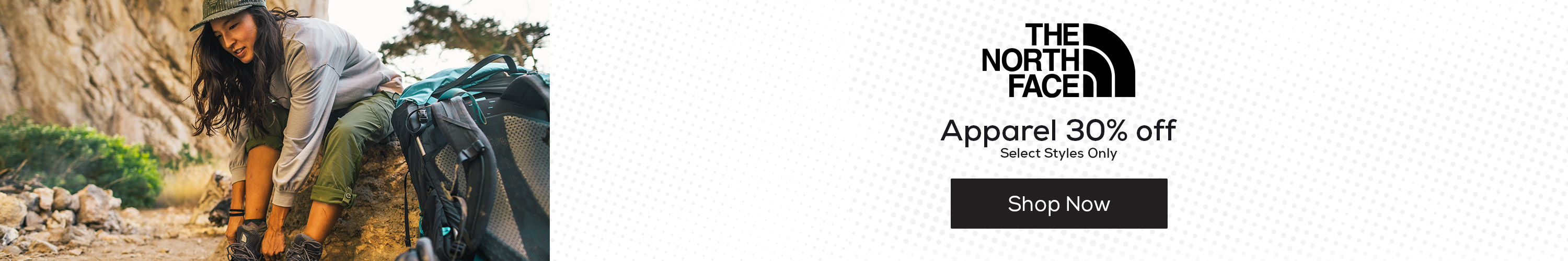 The North Face Apparel 30% Off
