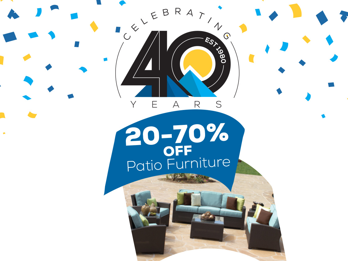 Patio Sale 20-70% Off