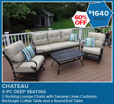 60% Off Chateau 5 Piece Deep Seating. Now $1640.