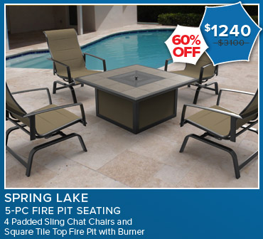 60% Off Spring Lake 5 Piece Fire Pit Seating. Now $1,240