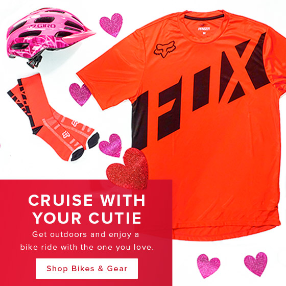 Cruise with your cutie. Get outside and enjoy a bike ride with the one you love.