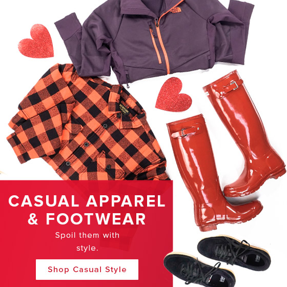Spoil them with style. Shop casual apparel and footwear.