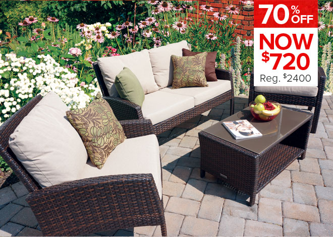 70% Off Grand Cayman 4 Piece Deep Seating. Now $720
