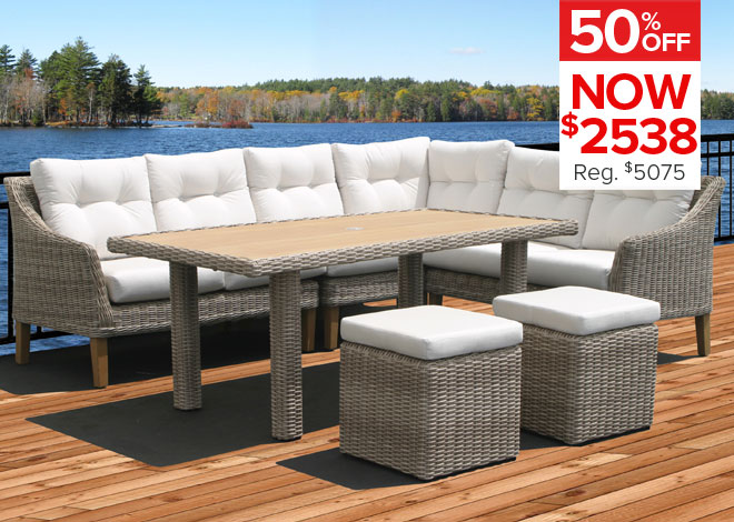 50% Off Cambria Sectional. Now $2538