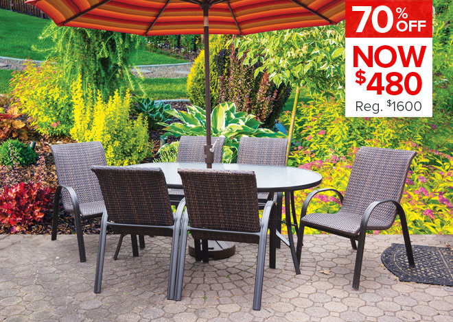 60% Off Lisbon 7 Piece Dining. Now $1,699