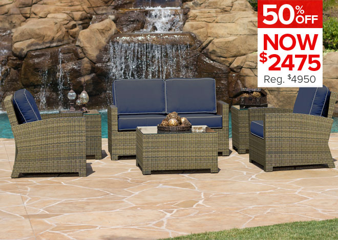 50% Off Charleston 7 Piece Dining. Now $1,099