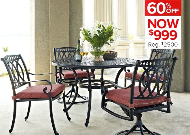 60% Off Beckette 5 Piece Dining. Now $999