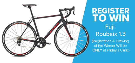 Bike Raffle - Enter to win Fuji Roubaix 1.3