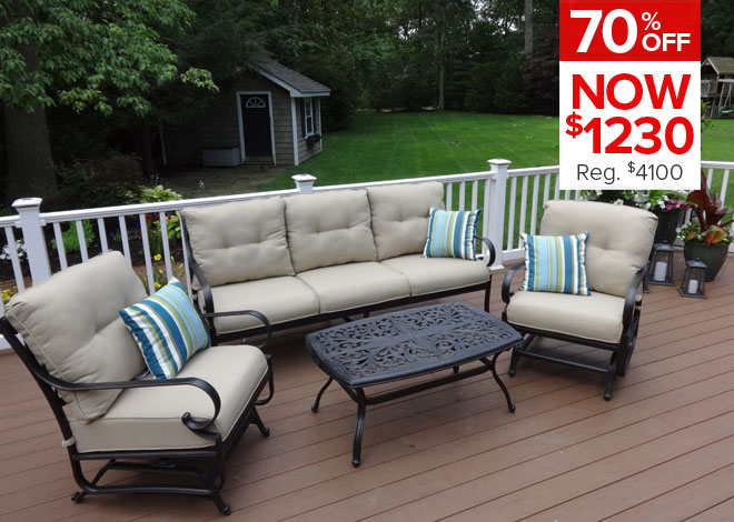 70% Off Chateau 5 Piece Deep Seating. Now $1,230