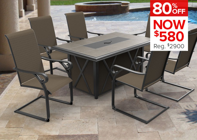 80% Off Siesta Cove Fire Pit Dining. Now $580