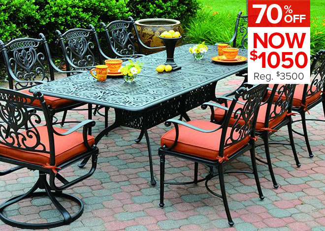 70% Off Tuscany 7 Piece Dining. Now $1050