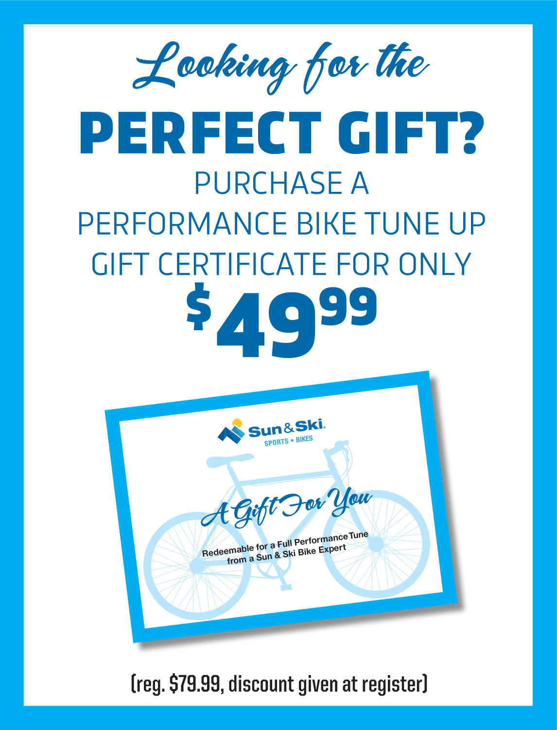 Performance Bike Tune Up Gift Certificate only $49.99
