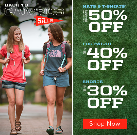 Back to Campus Sale - Up To 40% Off