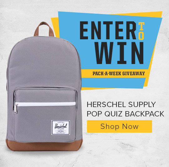 Enter to win Herschel Supply Pop Quiz Backpack