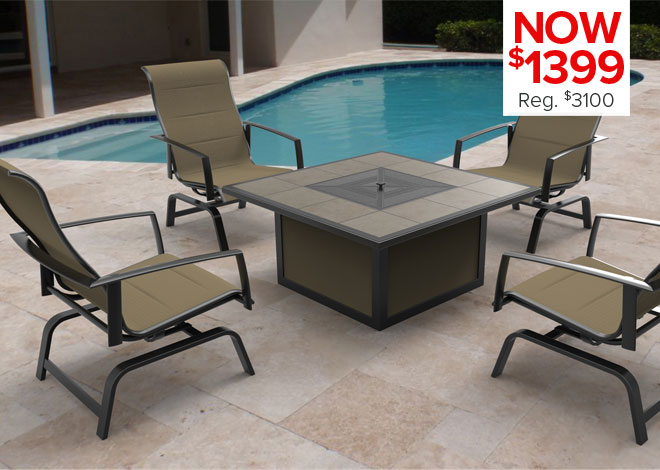 80% Off Grand Cayman 4 Piece Deep Seating. Now $480