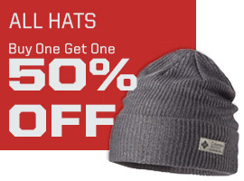 All hats buy one get one 50% off