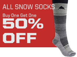 All snow socks, buy one get one 50% off.