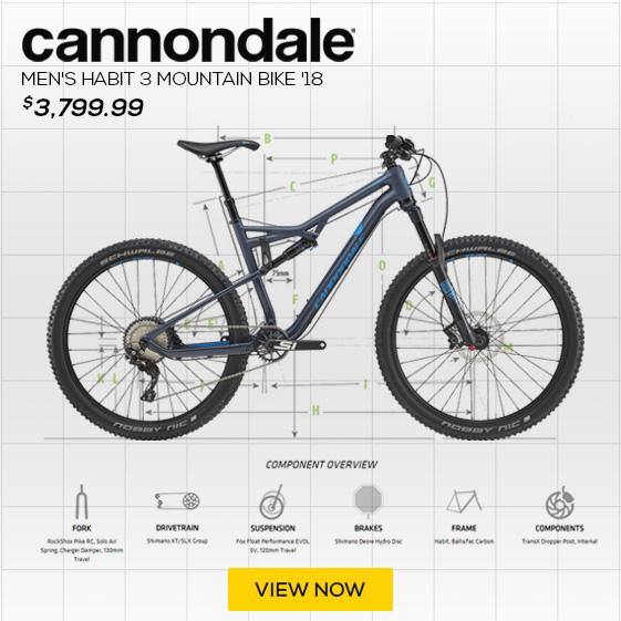 Cannondale Men's Bad Habit 3 Mountain Bike '18